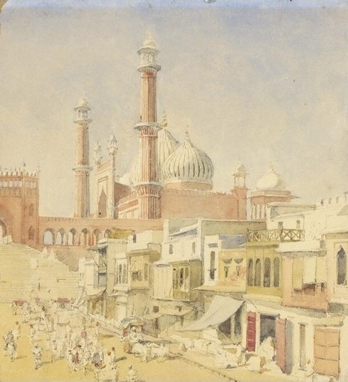 jama_masjid_delhi_watercolour_1852
